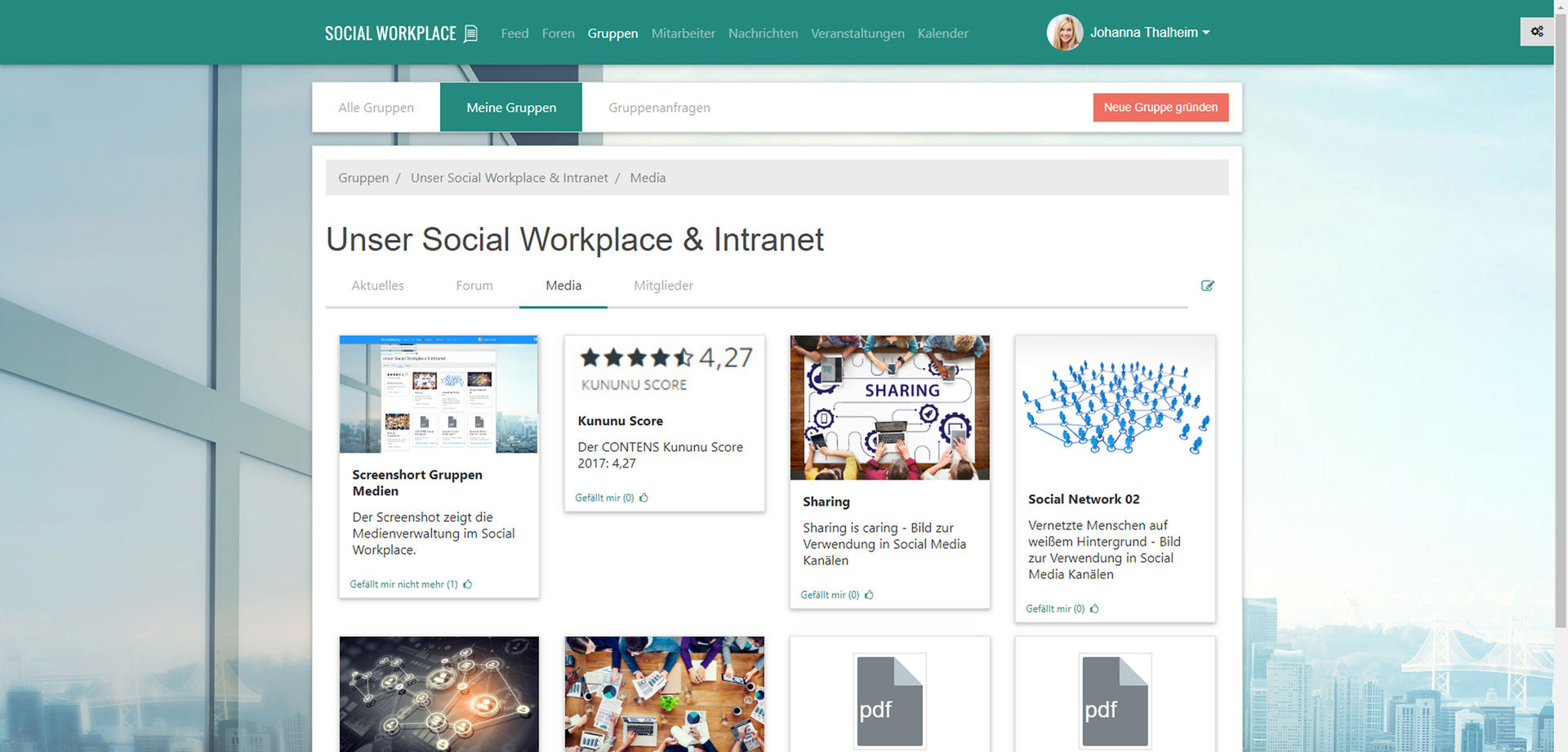 CONTENS Social Workplace groups and media