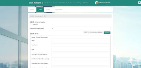 CONTENS Sociaal Workplace LDAP interface